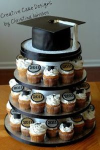 This Creative Graduation Cupcake Display Was Made By Christine Johnson Of Cake Designs