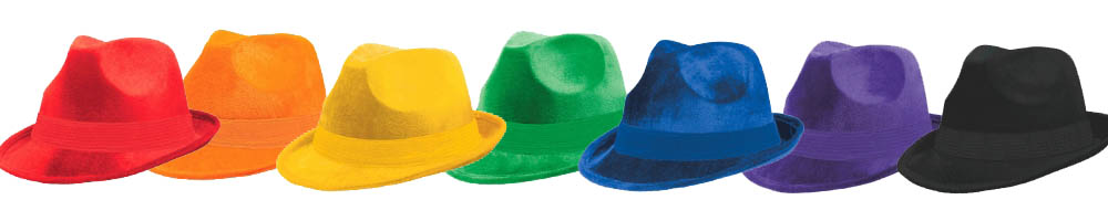 Follow it up with a velor fedora of a matching color! Or change things up with a contrasting shade! All our velour fedoras are just $5.49